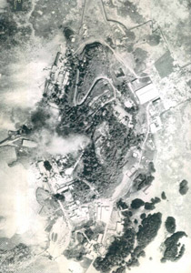 Lenger Island in 1944 prior to the bombing, Pohnpei