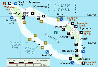 Pakin Atoll, Pohnpei, Federated States of Micronesia (FSM) Map
