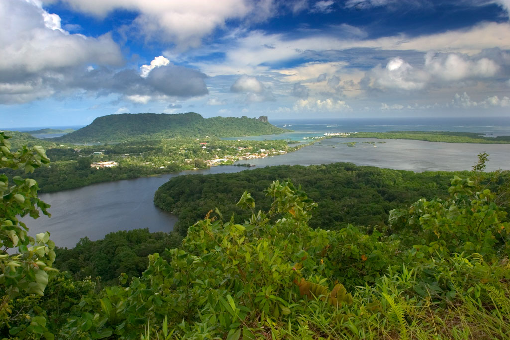 A view from Dolen Nett, Pohnpei, Federated States of Micronesia (FSM)