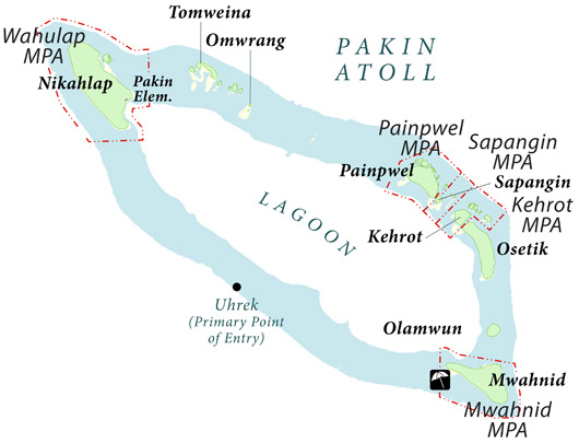 Pakin Atoll Map