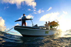 Pohnpei Surf Club boat, Pohnpei, FSM - Photo courtesy of Pohnpei Surf Club