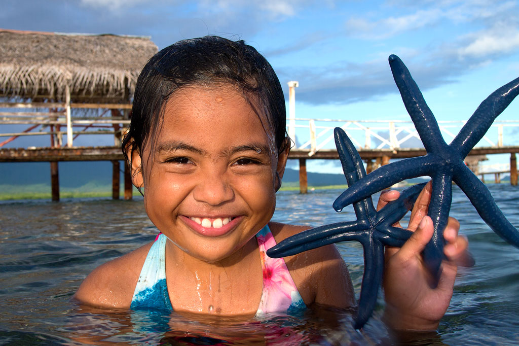 Girl at Nahlap Island, Pohnpei, Federated States of Micronesia (FSM)