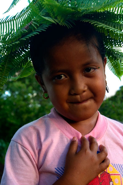 Pohnpeian girl, Pohnpei, Federated States of Micronesia (FSM)