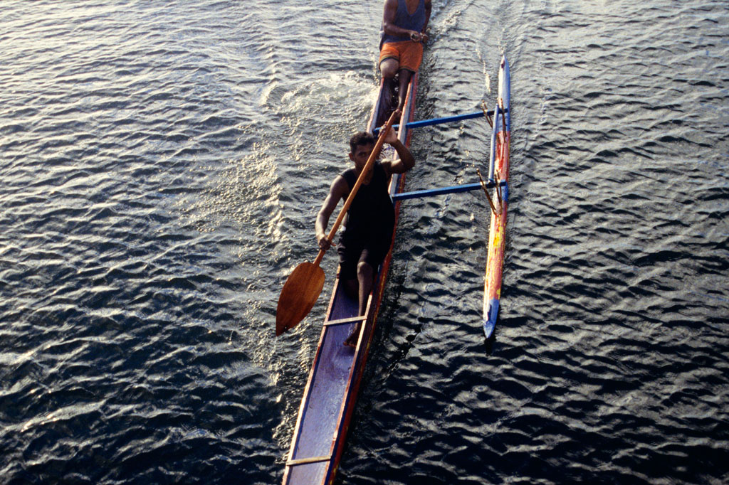 Outrigger canoe, Pohnpei, Federated States of Micronesia (FSM)